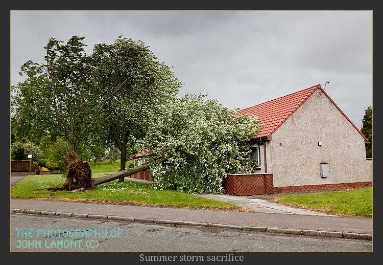 Storm hits Clackmannanshire