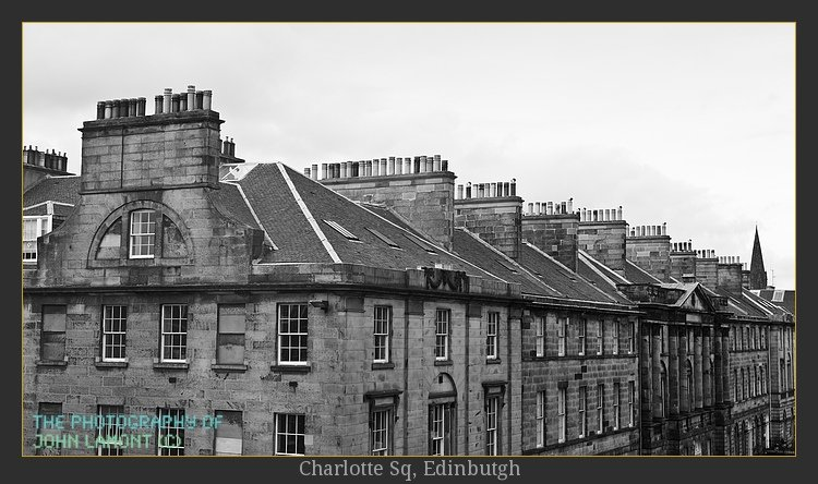 Photography of rooftops of Edinburgh