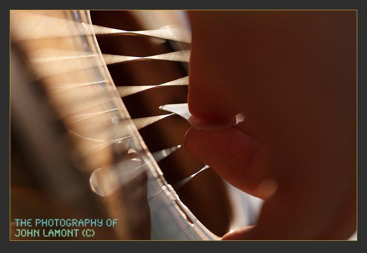 Guitar strings making music