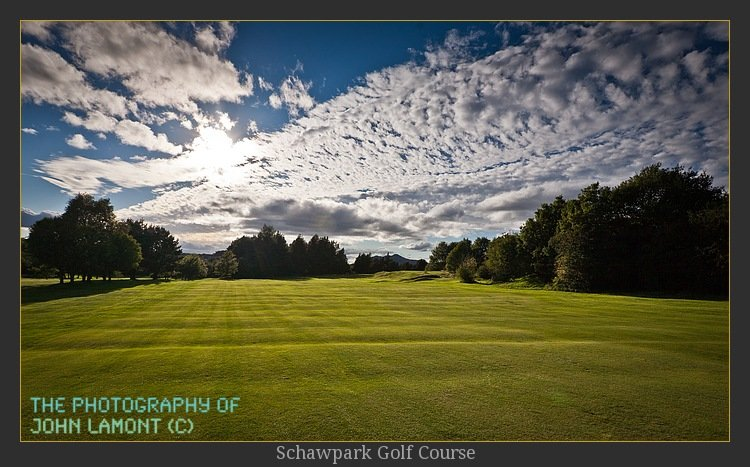 Montana skies at Schawpark Golf Course