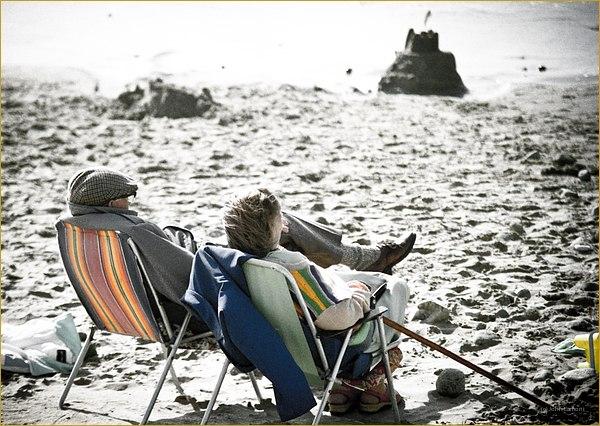 Oldies on the beach