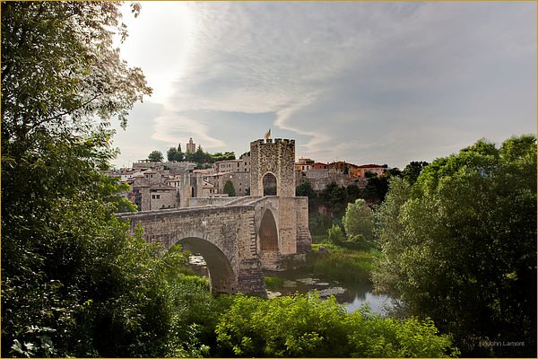 Castle walls at Besalu, Catelonia Spain