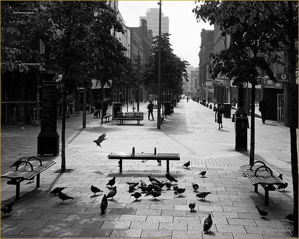 Black and white photography of Suchiehall Street