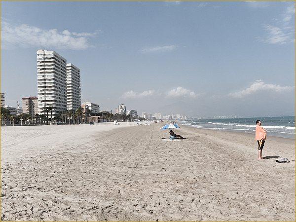 Empty sunny beach