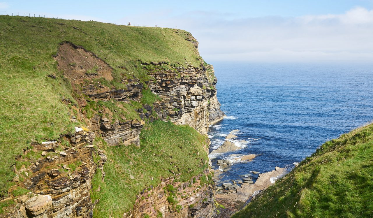 Duncansby Head cliff over the North Sea
