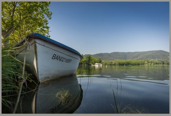 Boat on lake of Banyoles