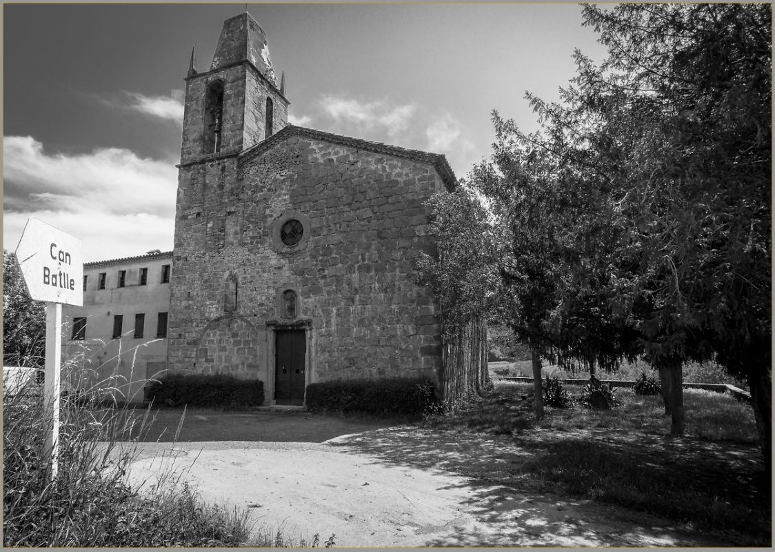 Old church in Garrotxa volcanic region