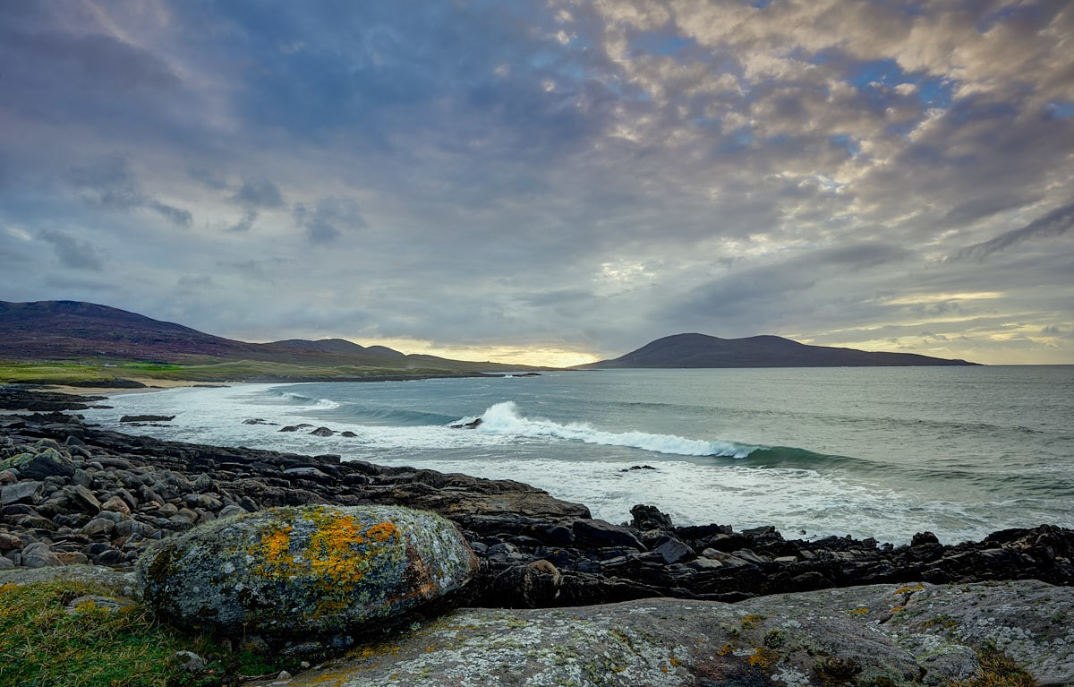 Across Sound of Taransay, south isle of harris scotland