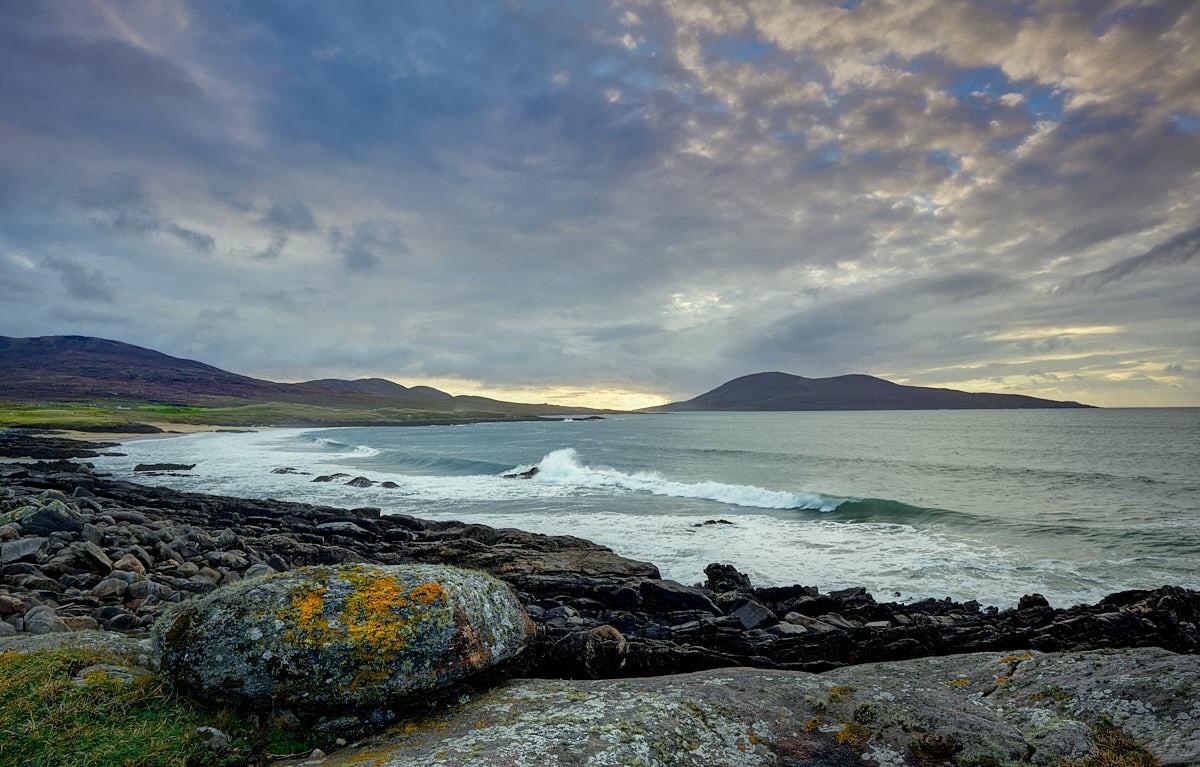 Across Sound of Taransay, south isle of harris scotland