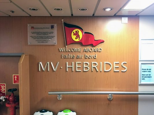 Inside MV Hebrides