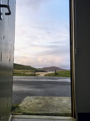 View from the toilet on Horgabost Campsite, Isle of Harris