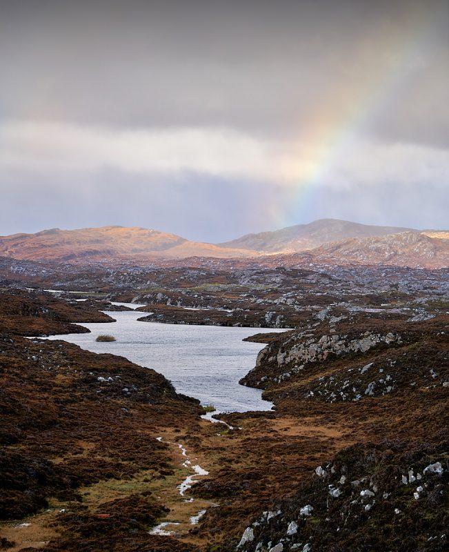 Rainbow on Loch an Luig