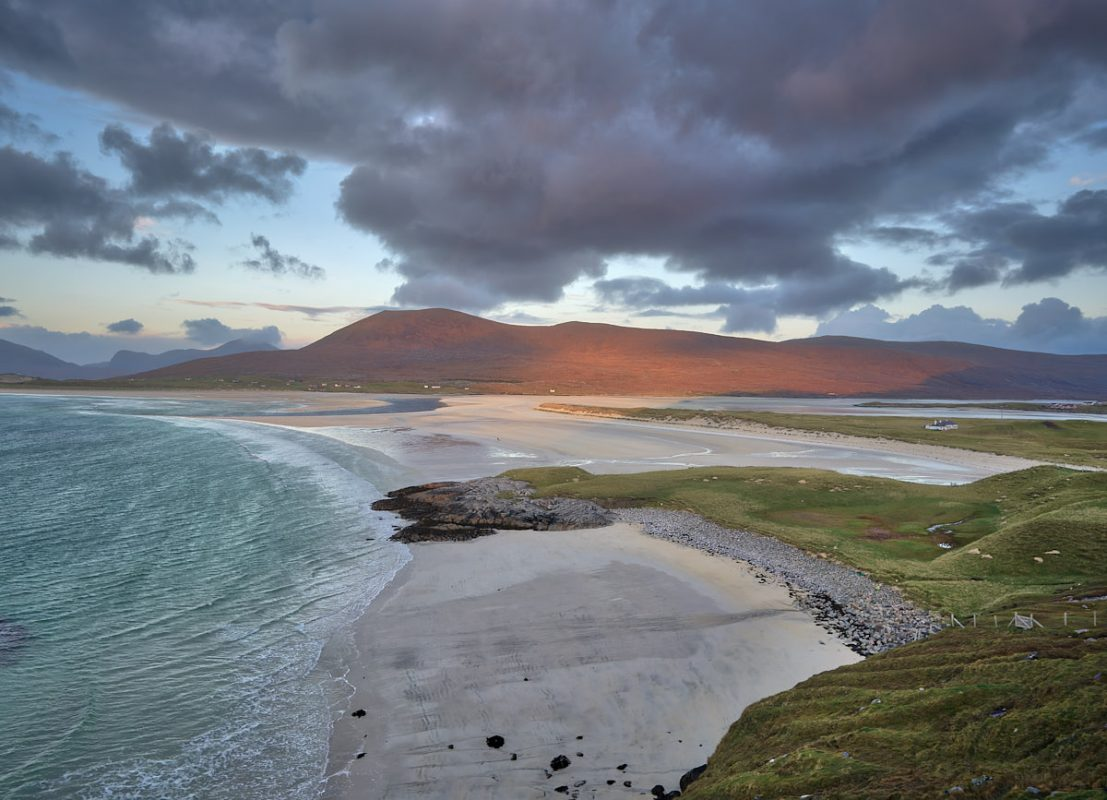 Luskentyre bay at sunset