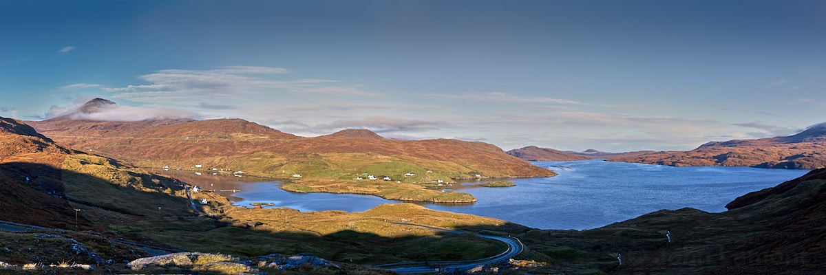 Panorama of Loch Seaforth and Clisham