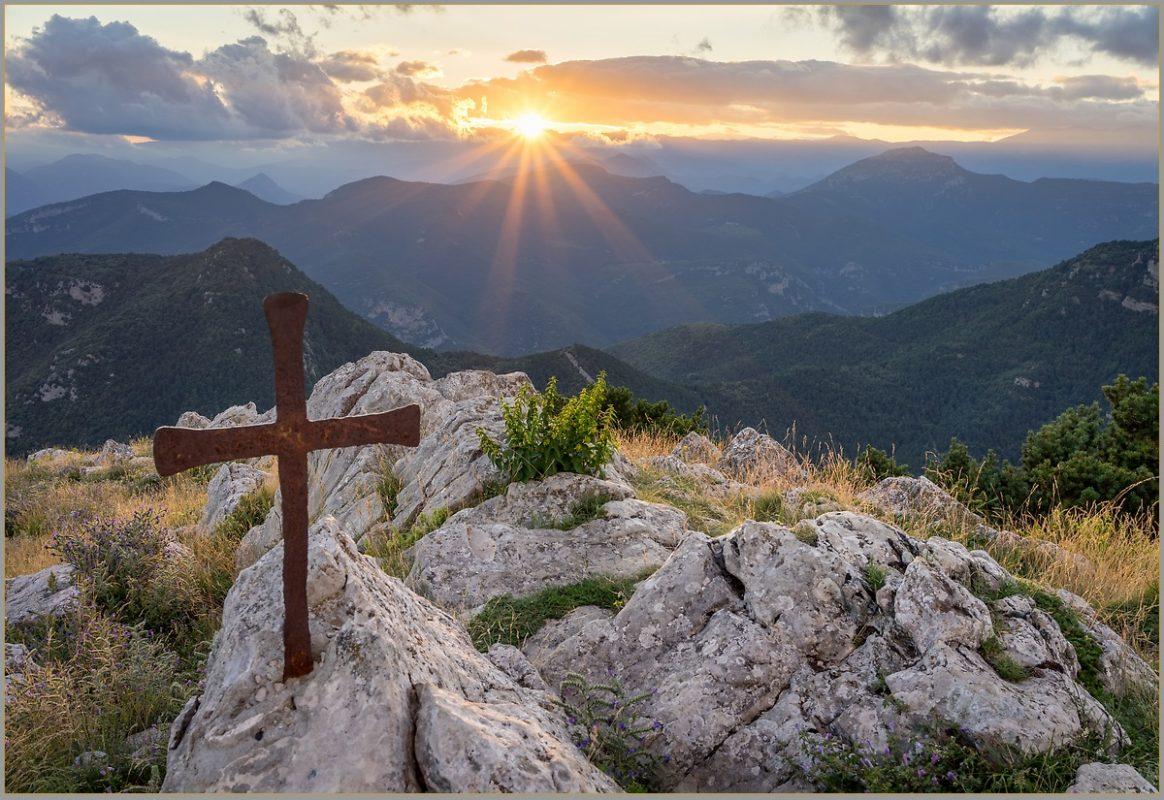 Cross on Mare de Déu del Mont