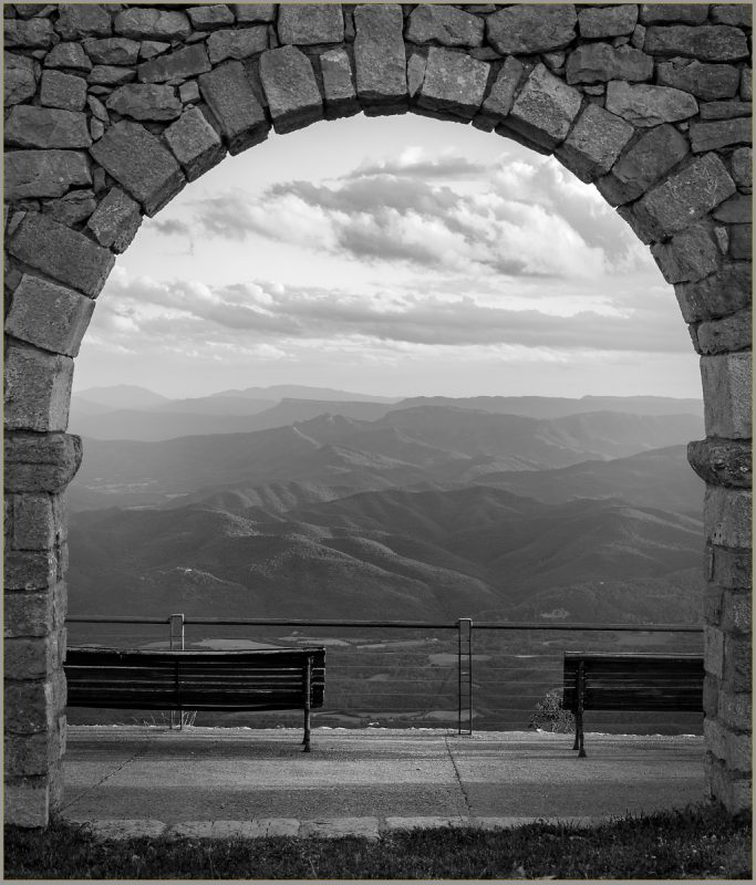Doorway on a mountain