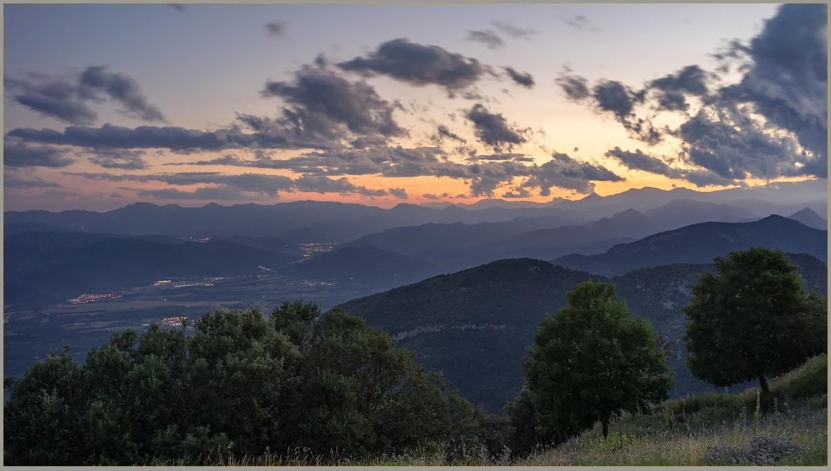 Mountain sunset over Catalonia