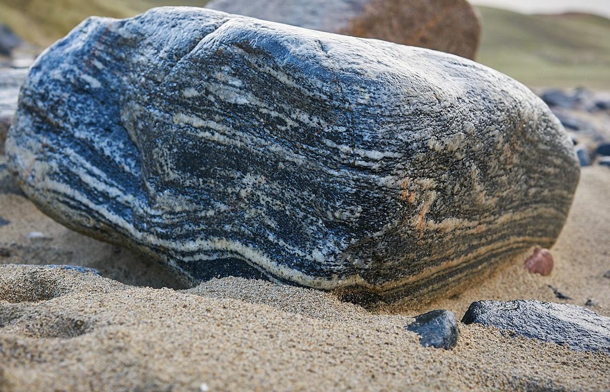 Lewisian gneiss rock