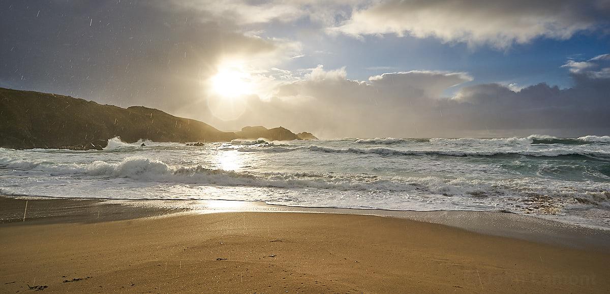 Stormy Mangersta beach