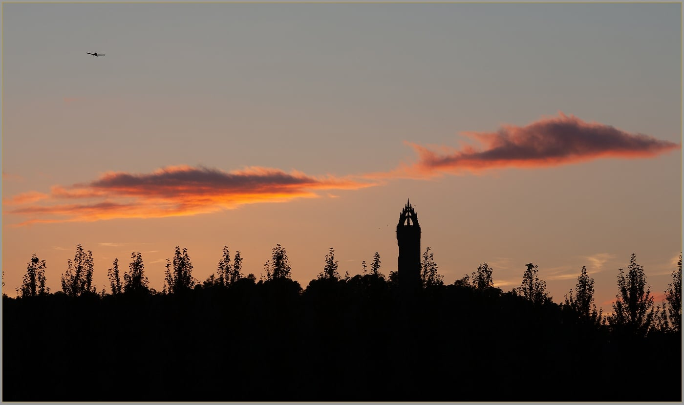 Sunset over Wallace Monument